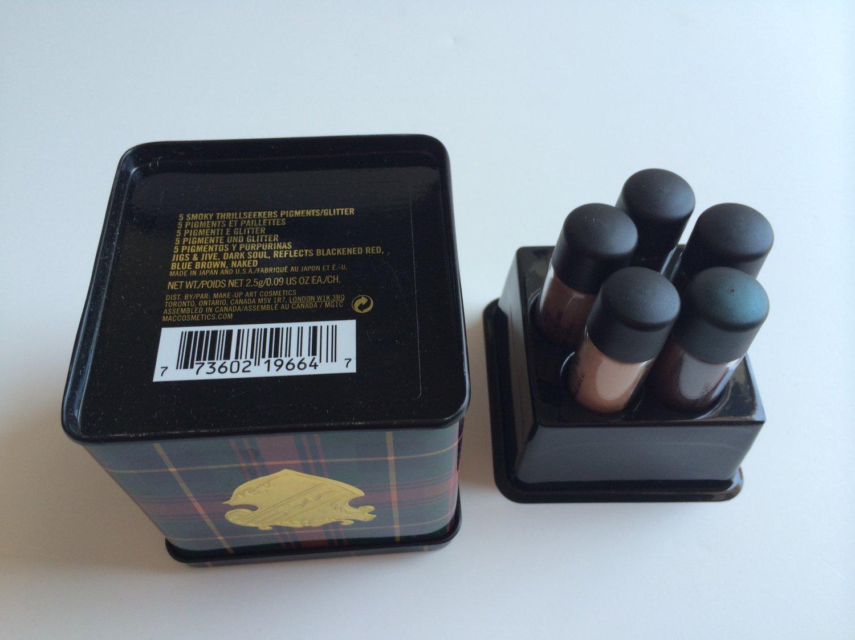 MAC 5 Smoky Thrillseekers Pigments / Glitter (BNIB)