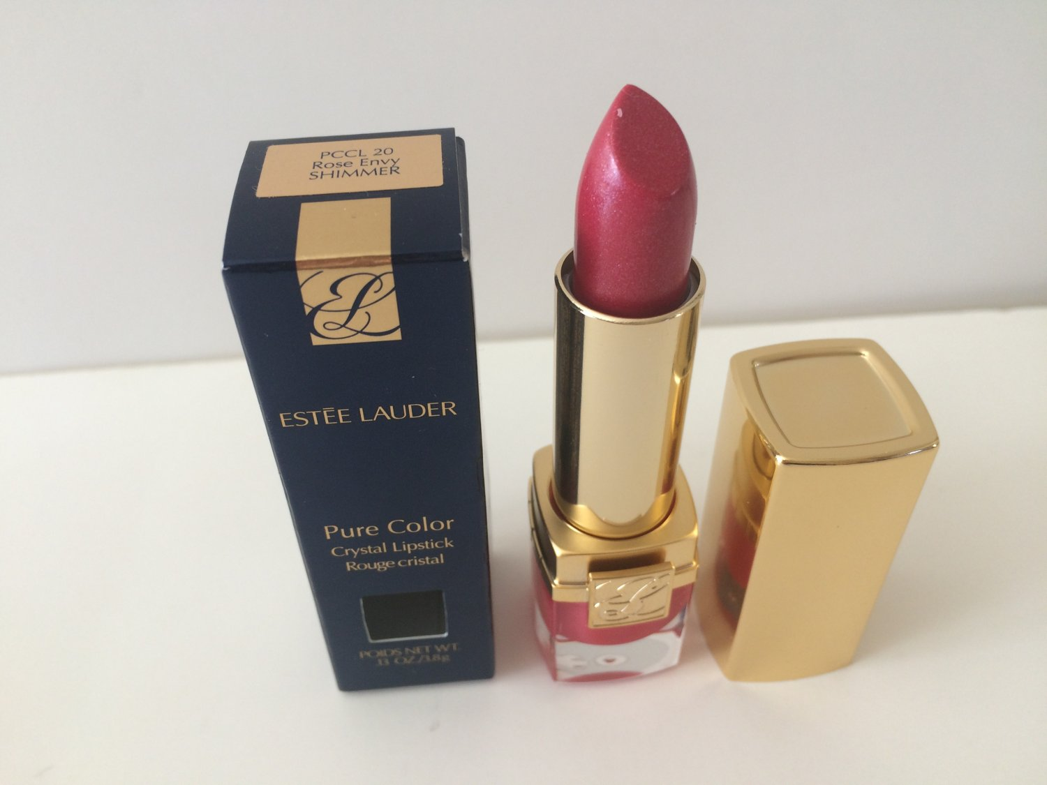 Estee Lauder Pure Color Crystal Lipstick - 20 Rose Envy Shimmer
