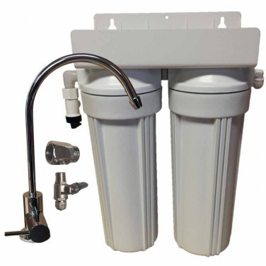 2 Stage 10-inch Drinking Water Filter for Fluoride, Arsenic, & Heavy Metal Removal