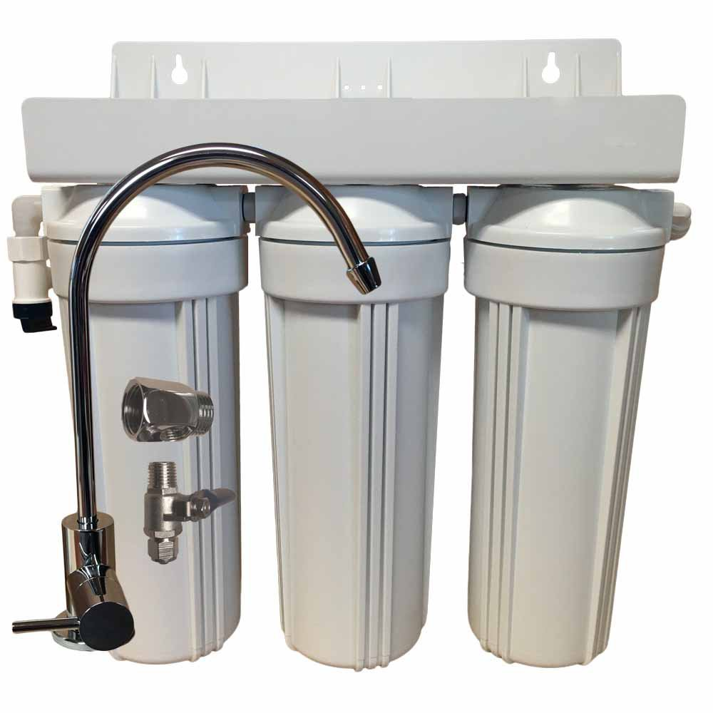 3 Stage 10-inch Drinking Water Filter with Alkalinity Filter