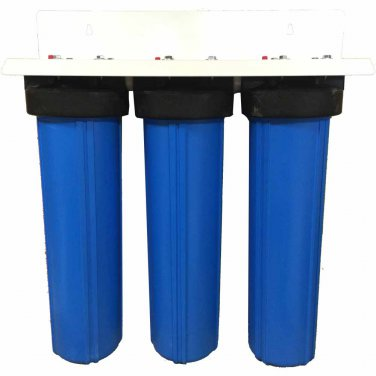 """20"""""""" 3-Stage Big Blue Whole House Filter w/ KDF55"""