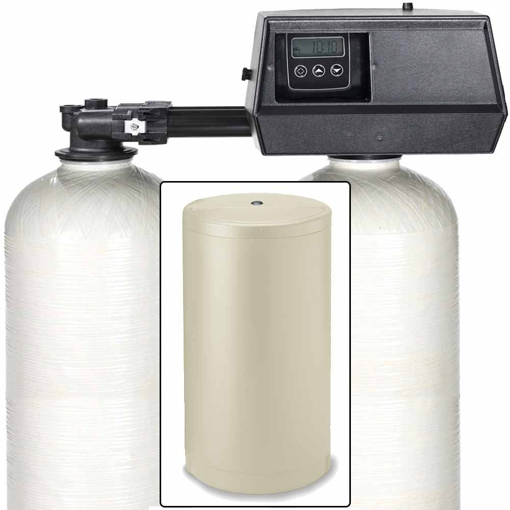 32k Digital Dual Tank Alternating IRON PRO Water Softener with Fleck 9100SXT