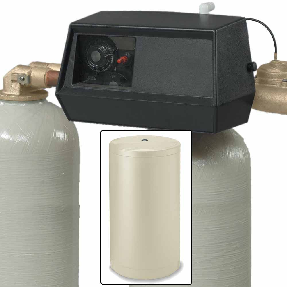 64k Dual Tank Alternating Water Softener with Fleck 9000