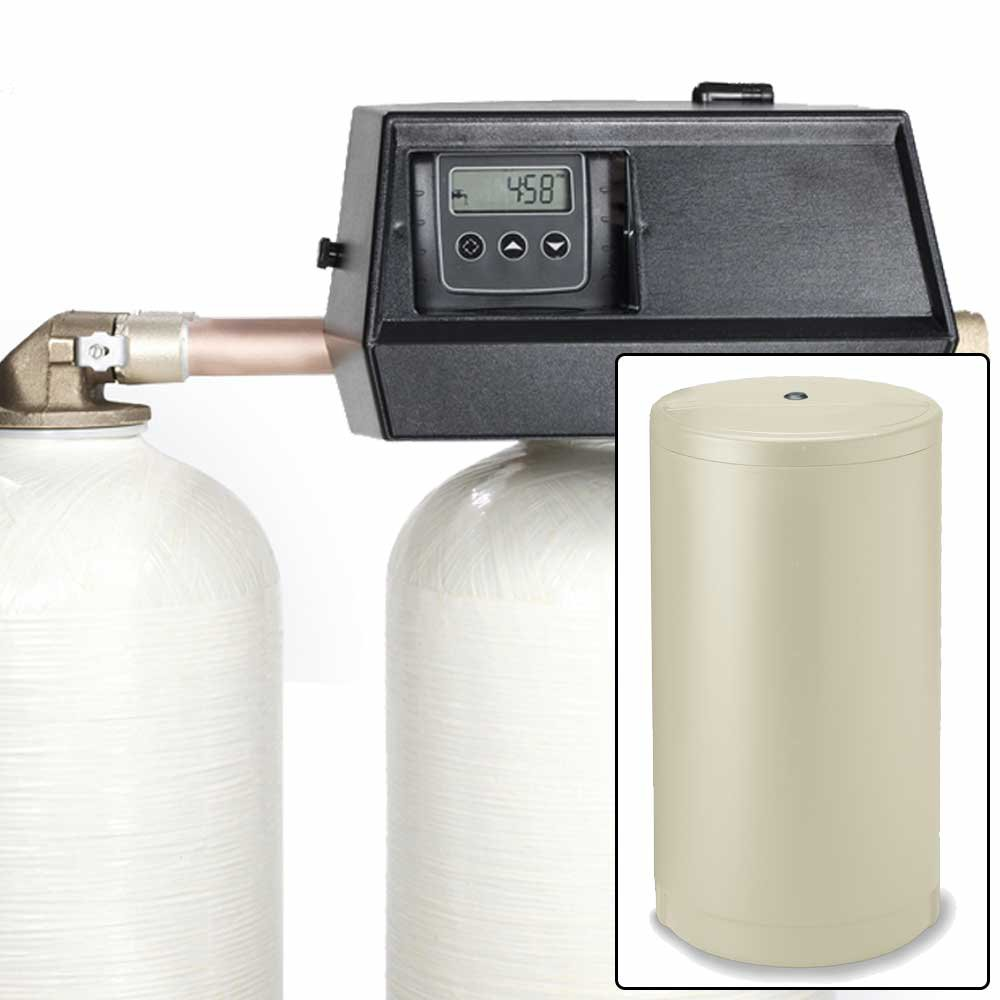 64k Digital Dual Alternating Tank Water Softener with Fleck 9000SXT
