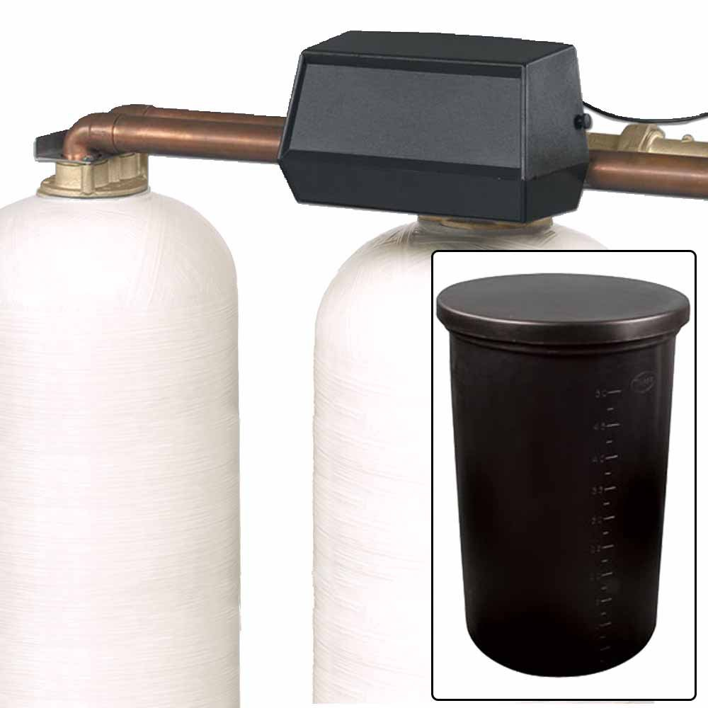 150k Commercial High Flow Metered Water Softener with Fleck 2850 On-Demand