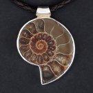 Unique Ammonite Fossil Pendant In Silver - Native American Jewelry - Tribal Jewelry - Unique Jewelry