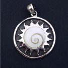 Shiva Eye Pendant - Tribal Jewelry - Spiritual Jewelry - Natural Jewelry - Nautical Jewelry