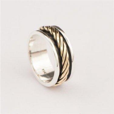 Spinner Ring - Meditation Ring - Anti Stress Ring - Three Metal Rings - Multi Metal Ring