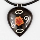 Interesting Black Wood Pendant - Tribal Jewelry - Unique Jewelry - Ethnic Necklace - Wood Jewelry -