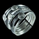 Beautiful And Unique Silver Ring With Snails - Tribal Jewelry - Ethnic Jewelry - Unisex Jewelry