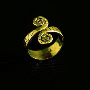 Beautiful And Unique Brass Ring - Tribal Jewelry - Ethnic Jewelry - Unisex Jewelry