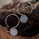 Silver Earrings - Geometric Earrings - Tribal Jewelry - Silver Jewelry - Ethnic Jewelry