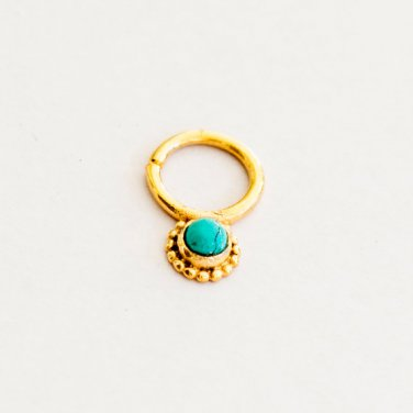 Gold Plated Septum For Pierced Nose - Nose jewelry - Septum Jewelry - Indian Nose Ring