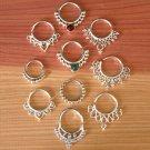 Assorted Silver Septums Package - Septum Ring - Septum Jewelry - Septum Piercing -