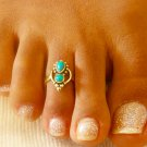 Brass Toe Ring - Adjusable Toe Ring - Gemstone Toe Ring - Foot Accessories - Foot Ring
