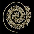 Brass Earrings - Brass Spiral Earrings - Gypsy Earrings - Spiral Jewelry - Brass Jewelry