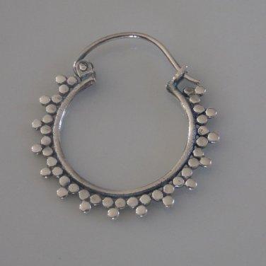 Silver Earrings - Silver Hoops - Ethnic Hoops - Gypsy Hoops - Ethnic Earrings - Hoops Jewelry