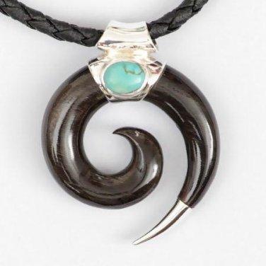 Men's Necklace - Men's Spiral Pendant - Men's Ethnic Necklace - Men's Ethnic Jewelry