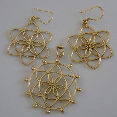 Brass Jewelry Set - Ethnic Jewelry Set - Tribal Jewelry Set - Gypsy Jewelry Set - Brass Jewelry