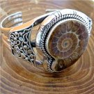 Beautiful And Unique Silver Fossil Bracelet - One Of a Kind Bracelet - Tribal Jewelry