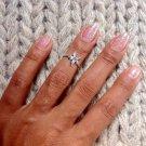 Silver Knuckle Ring - Sterling Knuckle Ring - Adjustable Knuckle Ring - Top Of Finger Ring