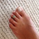 Brass Toe Ring - Adjusable Brass Ring - Plain Toe Ring - Foot Accessories - Spiral Toe Ring