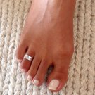 Beautiful Sterling Silver Toe Ring - Adjustable Toe Ring - Plain Toe Ring - Foot Accessories -