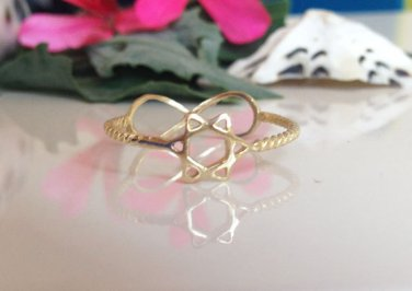 Infinity Ring - Stacking Ring - Star of David Ring - Stack Ring - Simple Ring