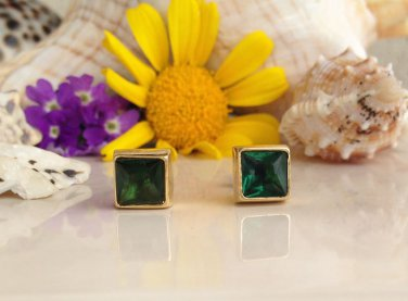 Green Tourmaline  Gemstone Jewelry Stud Earrings