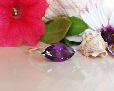Amethyst Ring - Purple Ring - February Birthstone - Silver Ring - Gemstone ring