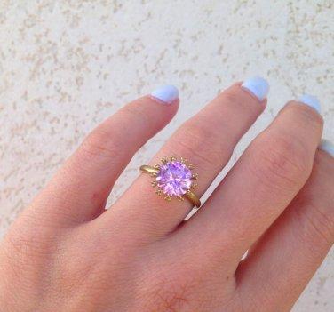 October Birthstone Jewelry - Rose Quartz Ring - Coctail Ring -Pink Quartz Ring
