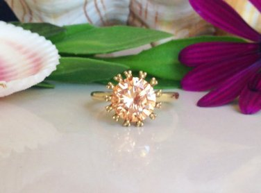 Citrine Ring - November Birthstone - Gold Ring - Yellow ring - Cocktail Ring