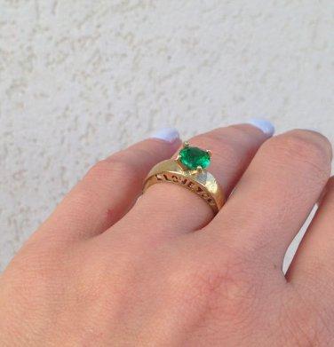 Emeraldt Ring - May Birthstone - Love Ring - Wedding Jewelry - Gemstone Ring