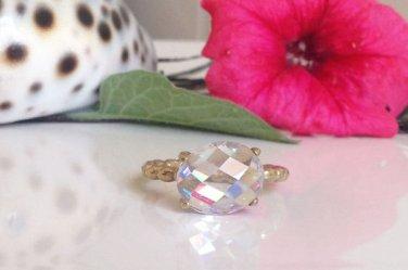 Clear Quartz Ring - Gold Ring - Gemstone Ring - Promise Ring