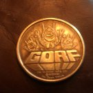 Gorf game token from the 1982 World's Fair Video Expo
