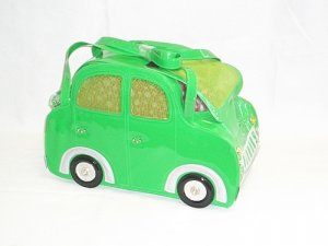 Small Green Taxi Pet Carrier FREE SHIPPING