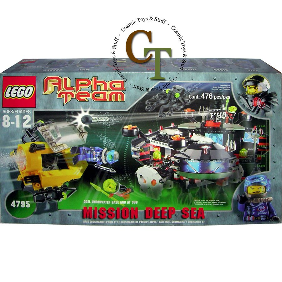 LEGO 4795 Ogel Underwater Base and AT Sub - Alpha Team