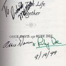 With Ossie and Ruby : In This Life Together by Ossie Davis and Ruby Dee SIGNED