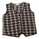 Womens Black Gray CHRISTOHER & BANKS Button Front Vest M Medium Cotton Blend