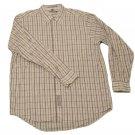 Mens Off White Tan Gray GEOFFREY BEENE Button Down Shirt 17