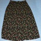 SAG HARBOR Women's Skirt - Black/Tan/Red - Size PM - EUC