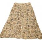 Womens Green Tan Brown SAG HARBOR Skirt Medium