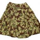 Womens Brown Tan Green JONES NEW YORK Skirt 6P