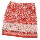 Womens Red White Maroon SO Skirt 3