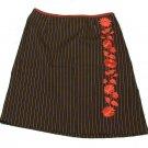 Womens Black Maroon Gray I E Skirt 6P Petites Casual or Dress Cotton Blend