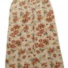 Womens Tan Red Blue LIZ CLAIBORNE EMMA JAMES Button Front Skirt 8