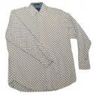 Mens Blue White ALEXANDER JULIAN COLOURS Long Sleeve Shirt M Medium 100% Cotton