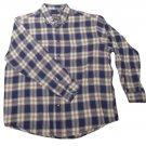 Mens Multi-Color JOHN ASHFORD Flannel Long Sleeve Shirt XL 100% Cotton