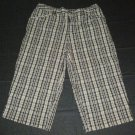 Womens Brown Black Gray WHITE STAG Pants Capris 6