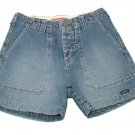 Womens Blue UNION BAY Denim Button Fly Shorts 1